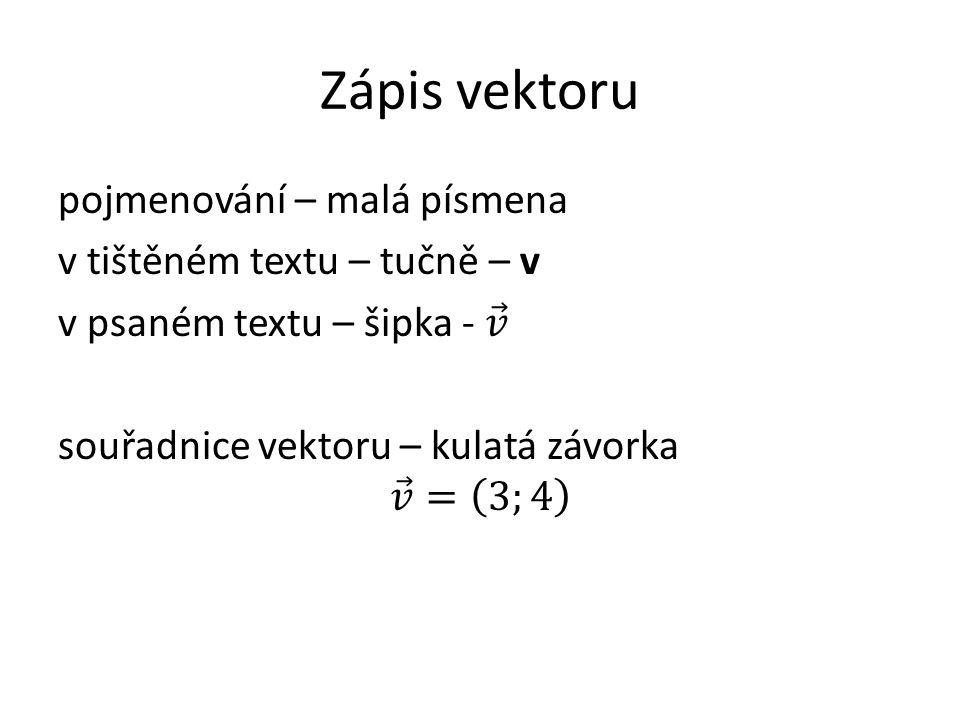 Zápis vektoru