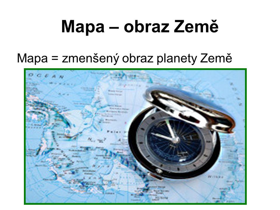 Části mapy: 1) název: co znázorňuje, na jakém území, v kterém roce nad mapovým polem 2) mapové pole: nejdůležitější část zemský povrch znázorněn řadou bodů čar a ploch obsahuje výškopis, polohopis a popis 3) legenda: vpravo od mapového pole vysvětlení značek, které byli v mapě využity 4) měřítko: pod mapovým polem udává kolikrát je dané území zmenšeno oproti skutečnosti číselné: 1:100 000 grafické: nakresli podle učebnice str.22 5) informace o tom, kdo mapu vytvořil