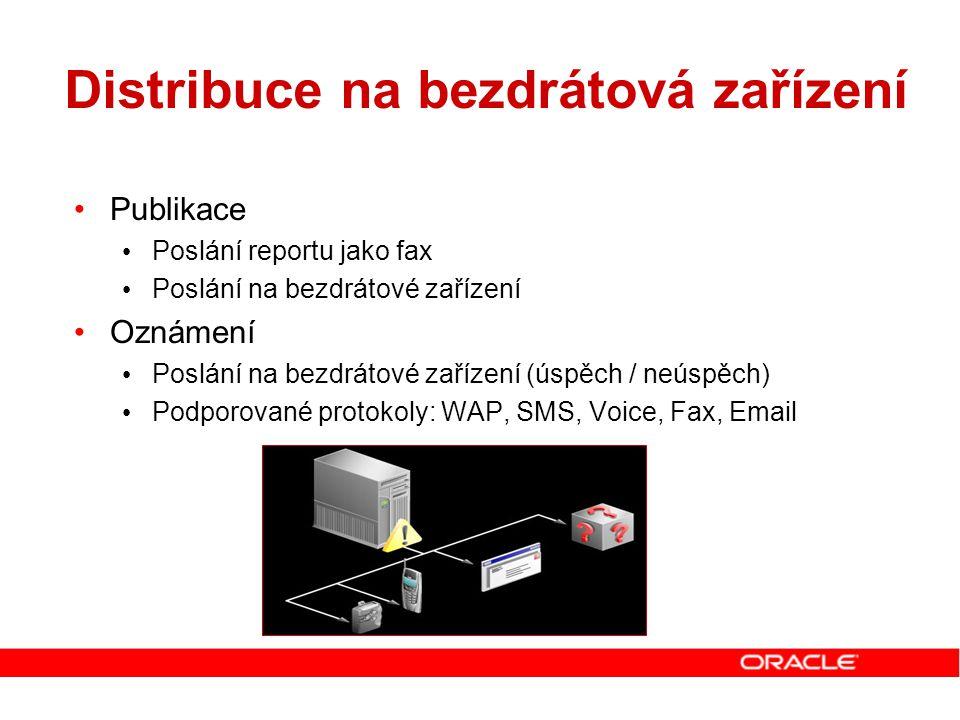 Distribuce na bezdrátová zařízení Publikace Poslání reportu jako fax Poslání na bezdrátové zařízení Oznámení Poslání na bezdrátové zařízení (úspěch /