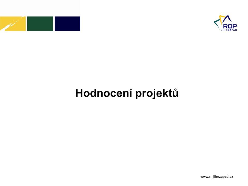 www.rr-jihozapad.cz Hodnocení projektů
