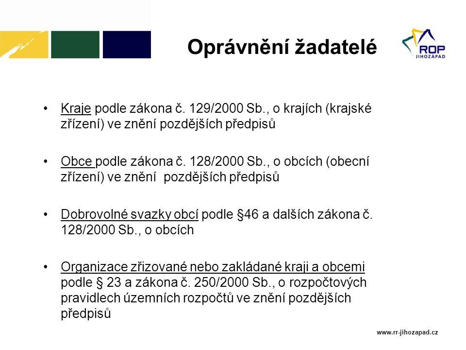 www.rr-jihozapad.cz Nestátní neziskové organizace podle zákona č.