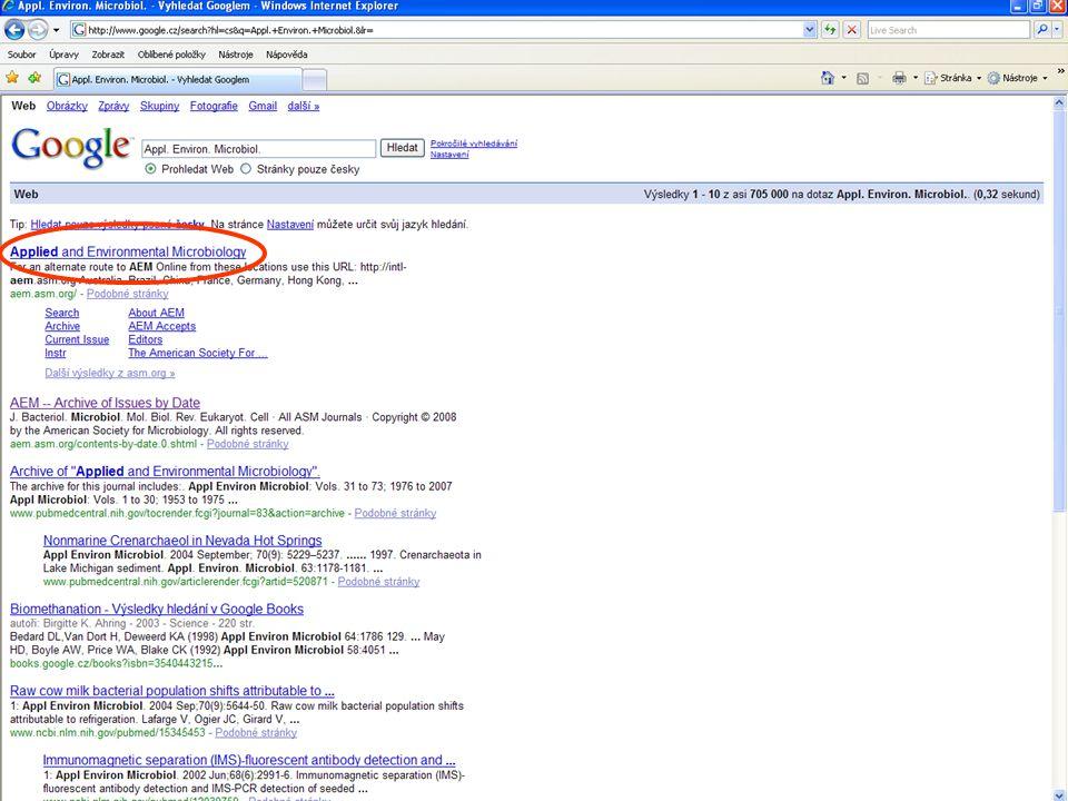 Ukázka IF publikací dané osoby Např. volba vývoje citací