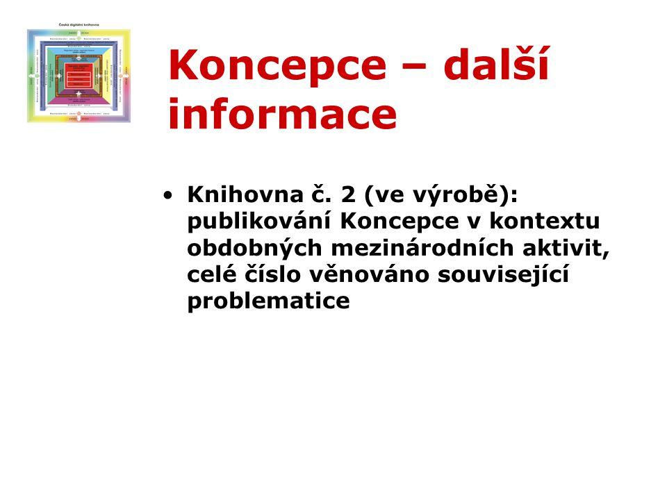Koncepce – další informace Knihovna č.