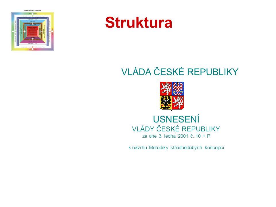 USNESENÍ VLÁDY ČESKÉ REPUBLIKY ze dne 3. ledna 2001 č.