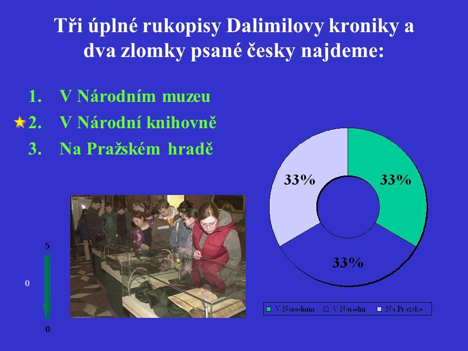 Z Dalimilovy kroniky čerpal v 16.