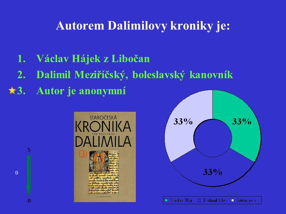 Dalimilova kronika vznikla ve století 0 0 5 1.14. 2.13. 3.12.