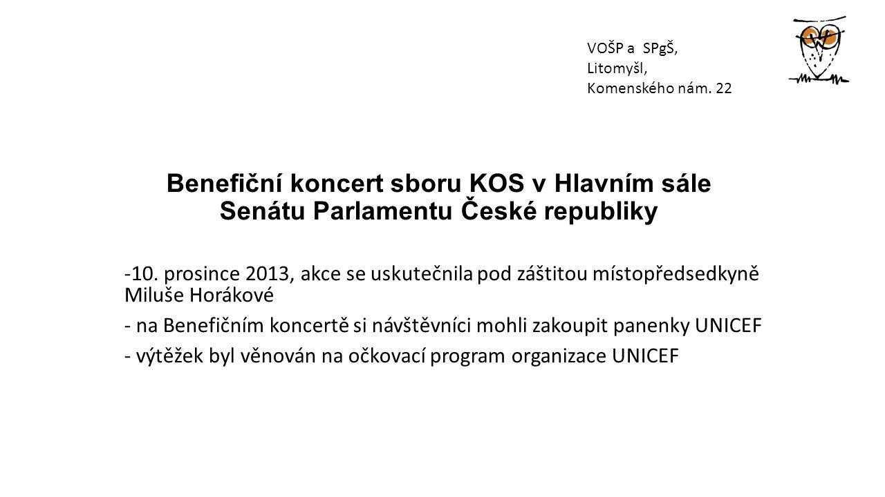 Benefiční koncert sboru KOS v Hlavním sále Senátu Parlamentu České republiky -10.