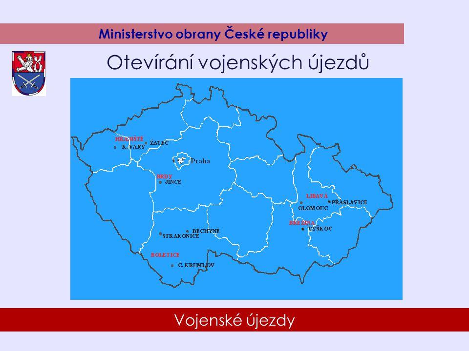 8 Vojenské újezdy Ministerstvo obrany České republiky Otevírání vojenských újezdů