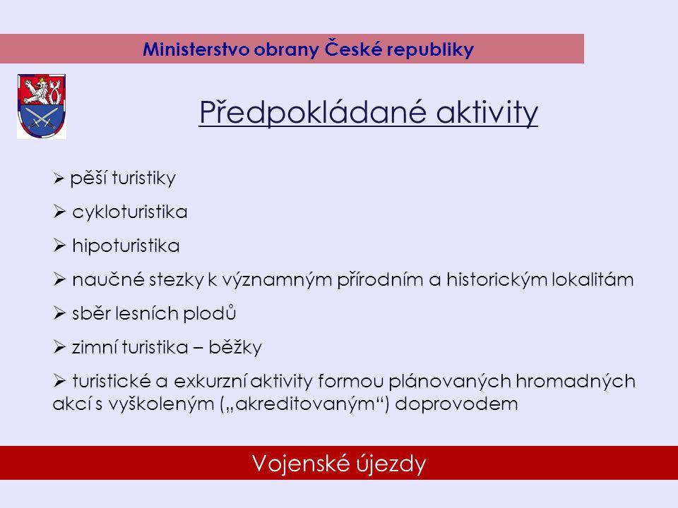 15 Vojenské újezdy Ministerstvo obrany České republiky Zpřístupnění újezdů