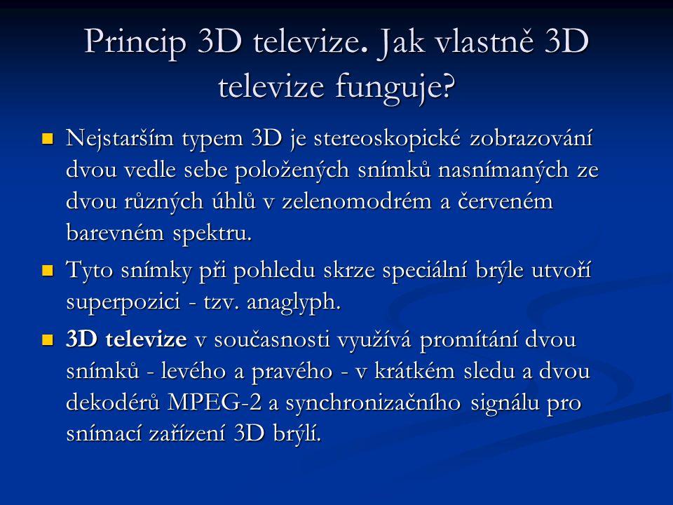 Princip 3D televize. Jak vlastně 3D televize funguje.
