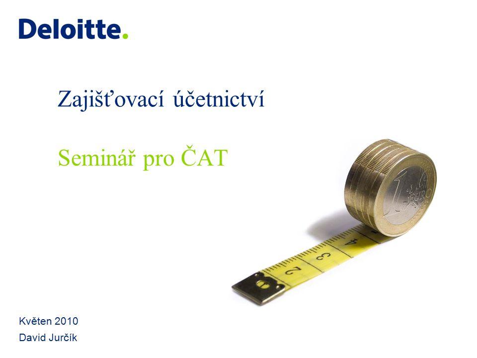 Zajišťovací účetnictví Květen 2010 David Jurčík Seminář pro ČAT