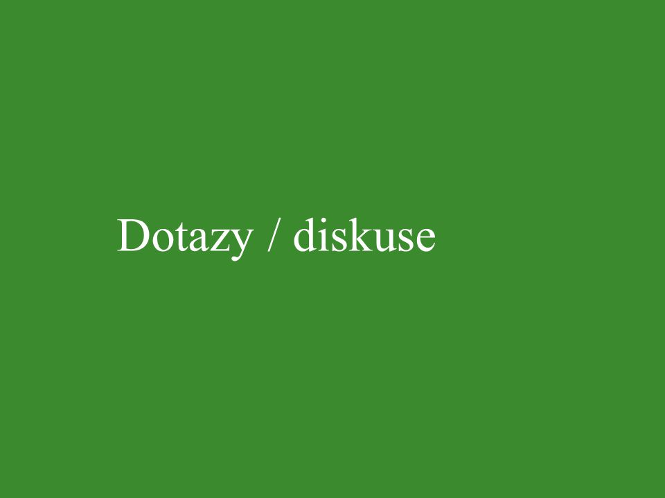 Dotazy / diskuse