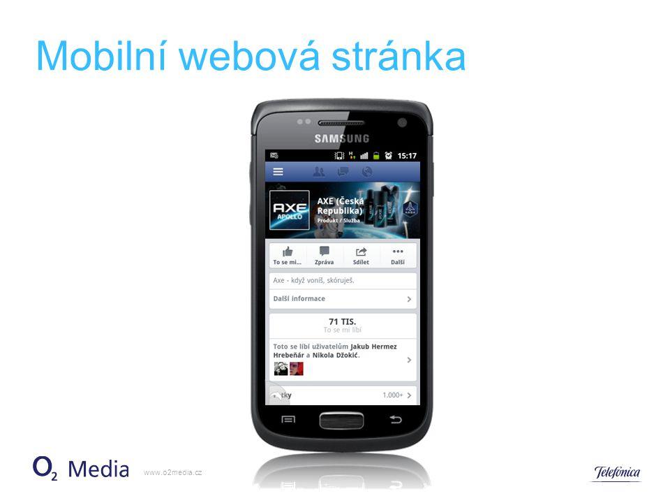 Mobilní webová stránka www.o2media.cz