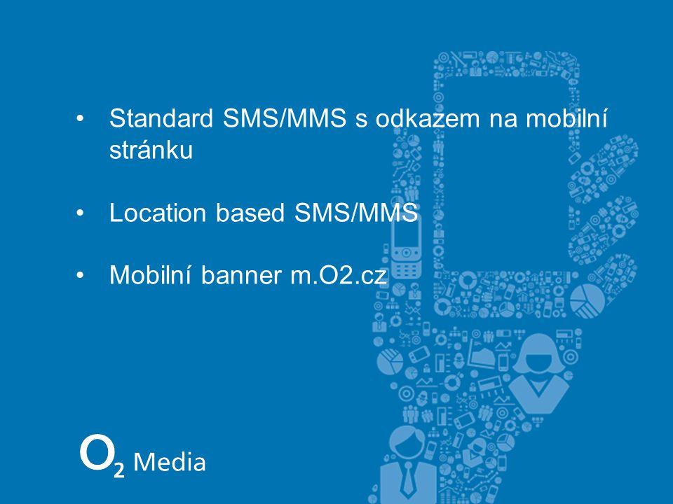 Standard SMS/MMS s odkazem na mobilní stránku Location based SMS/MMS Mobilní banner m.O2.cz