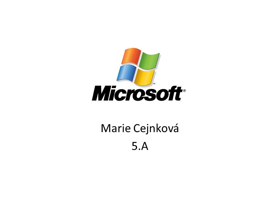 Marie Cejnková 5.A