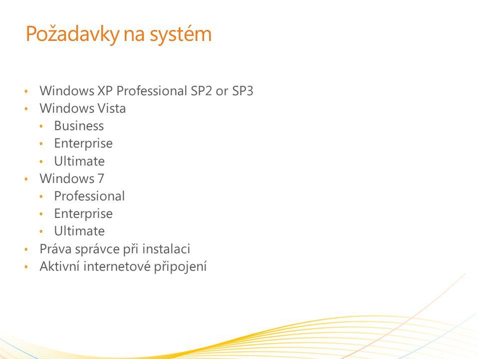 Začínáme s Windows Intune Instalace na počítače Stažení klientského instalačního balíčku Přihlášení Log In