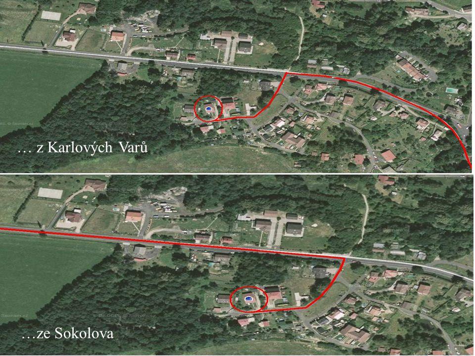Jak nás najdete… …ze Sokolova … z Karlových Varů
