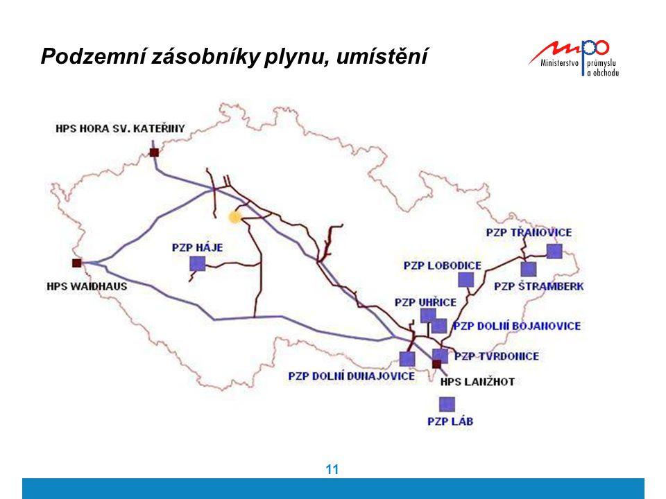 11 Podzemní zásobníky plynu, umístění