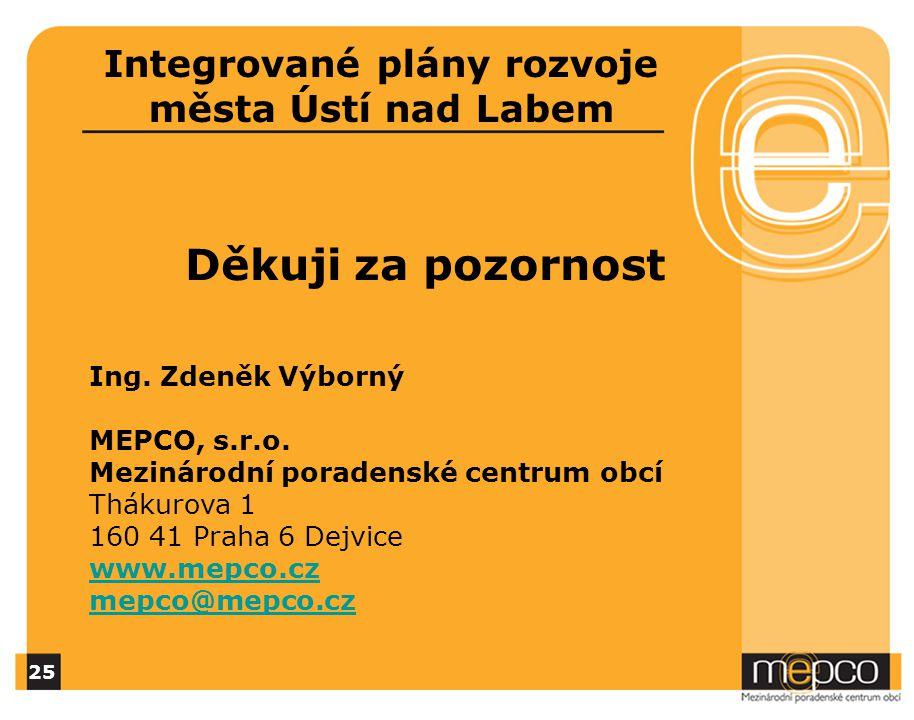 Děkuji za pozornost Ing. Zdeněk Výborný MEPCO, s.r.o.