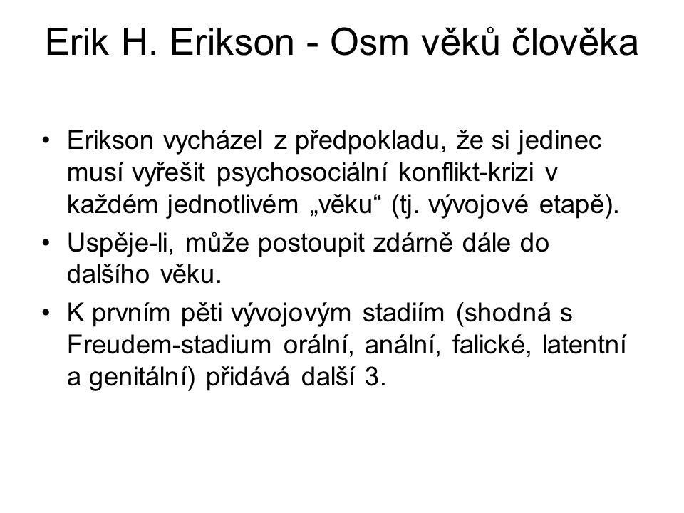 Erik H.Erikson - Osm věků člověka 1.