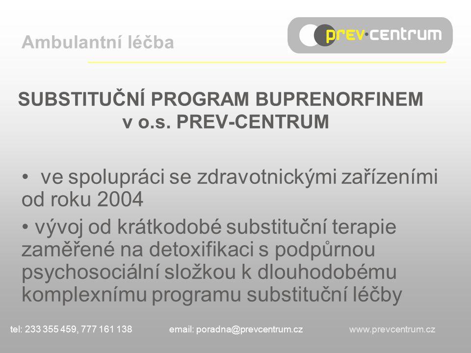 SUBSTITUČNÍ PROGRAM BUPRENORFINEM v o.s.