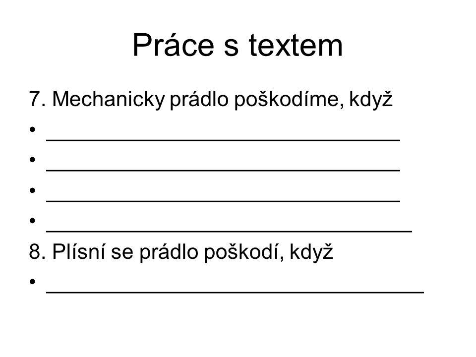 Práce s textem 7.