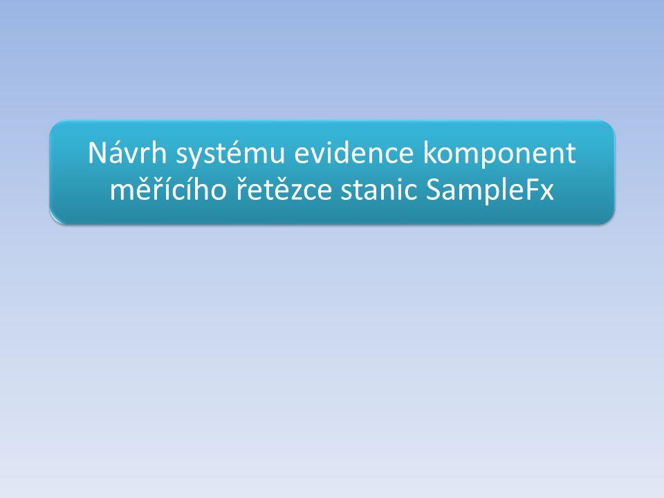 Návrh systému evidence komponent měřícího řetězce stanic SampleFx