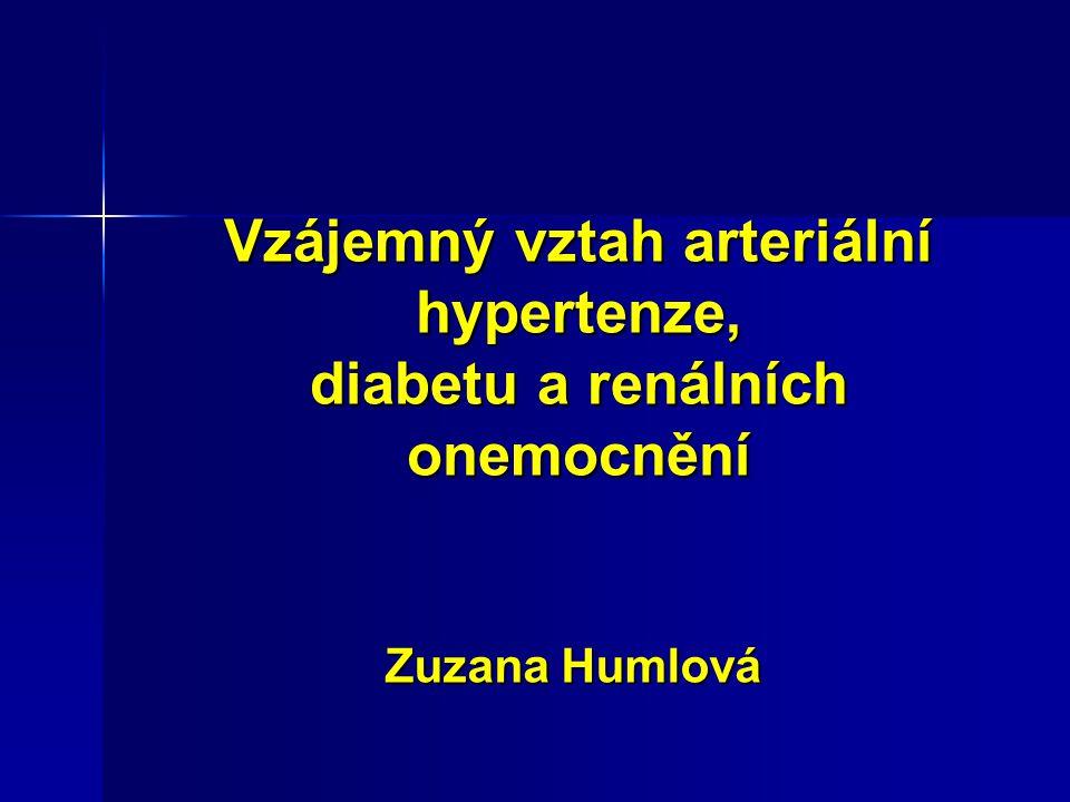 Vzájemný vztah arteriální hypertenze, diabetu a renálních onemocnění Zuzana Humlová