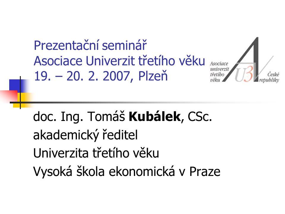 Prezentační seminář Asociace Univerzit třetího věku 19.