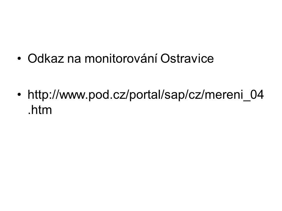 Odkaz na monitorování Ostravice http://www.pod.cz/portal/sap/cz/mereni_04.htm