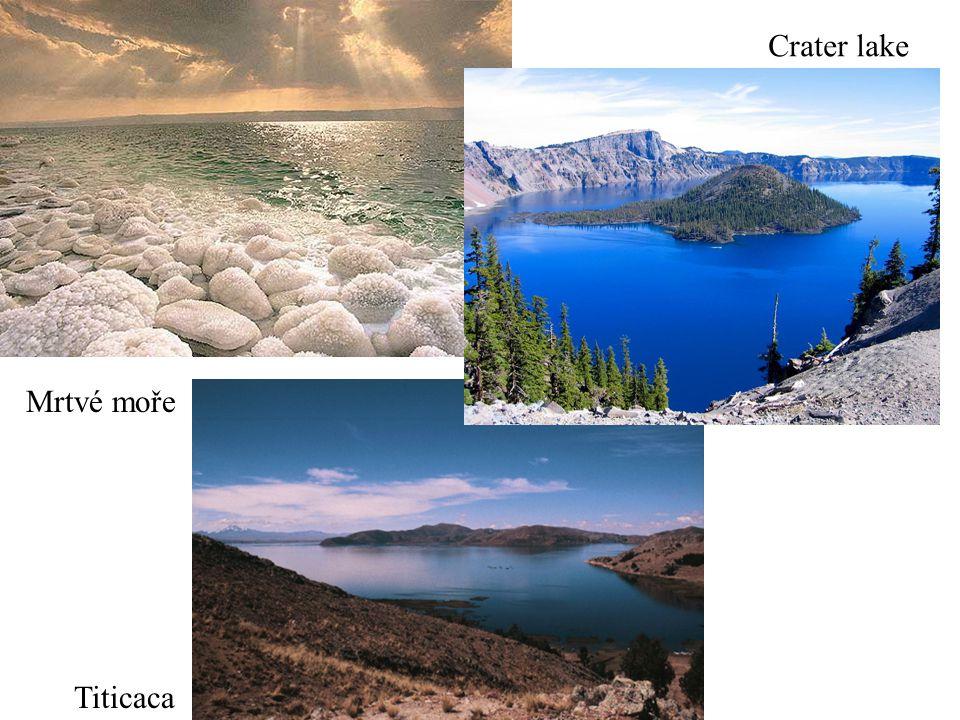 Mrtvé moře Titicaca Crater lake