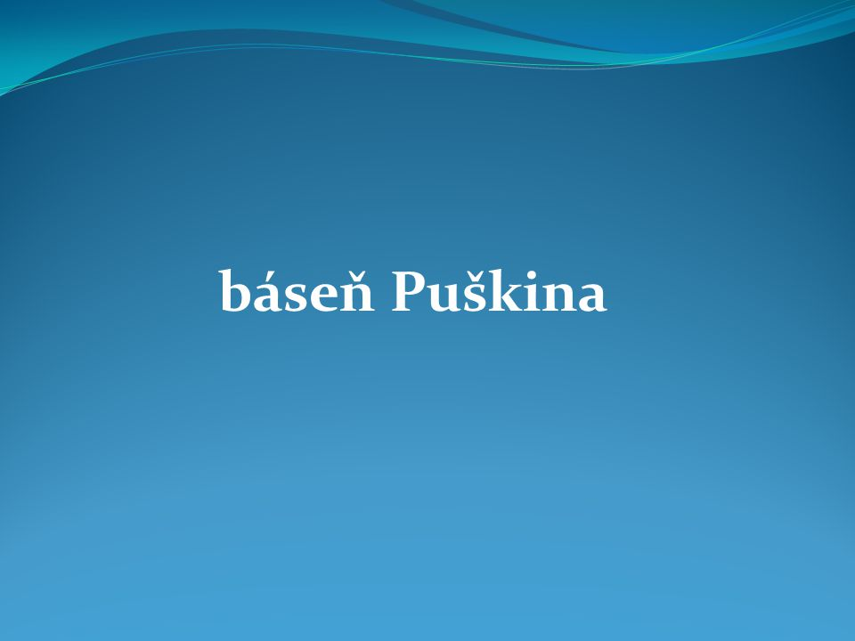 báseň Puškina