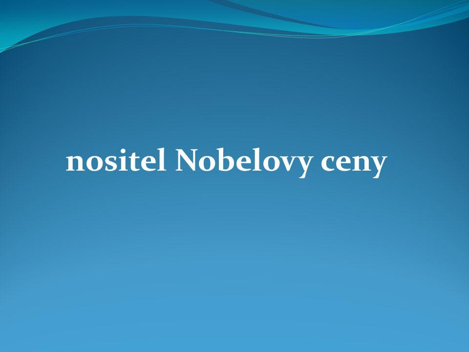 nositel Nobelovy ceny