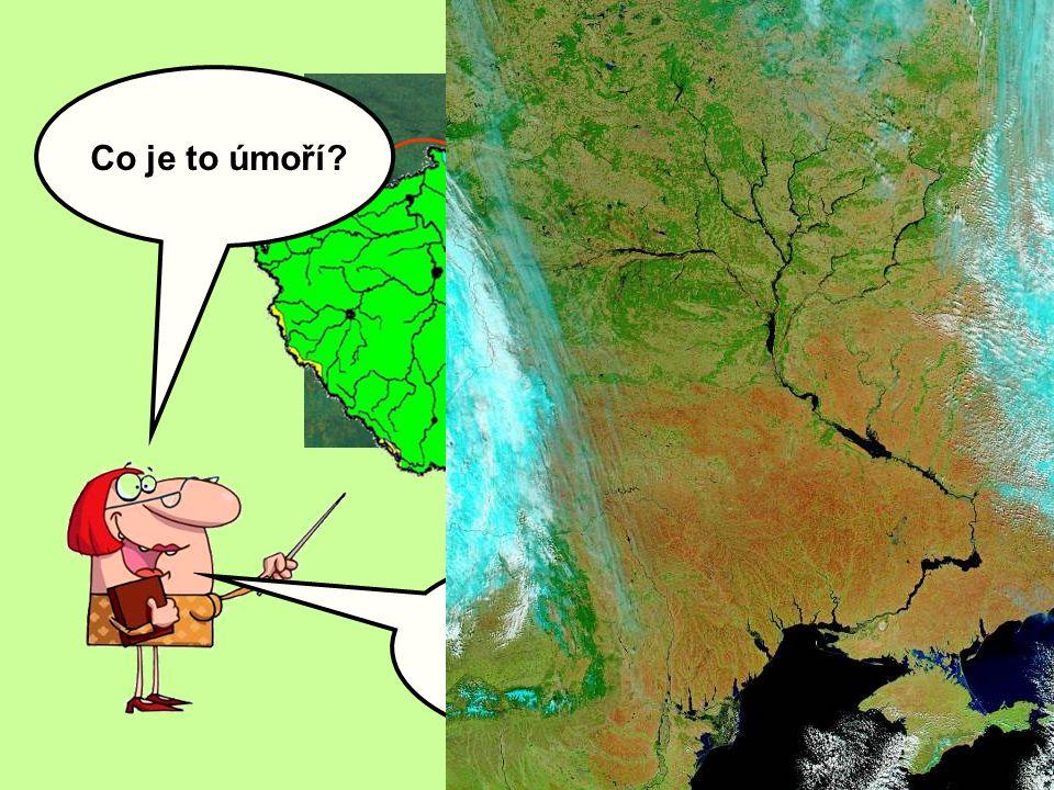 Jak byste popsali, co je to povodí? Která úmoří zasahují na území České republiky? Uveďte ke každému úmoří dvě naše řeky, které k němu patří: A B C Co