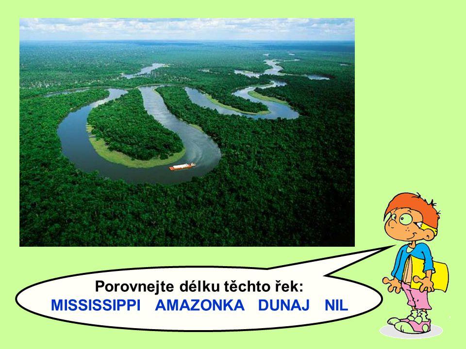 Zapište si:  U vodních toků se sleduje: - délka - pramen - ústí (nálevkovité x delta) - průtok - přítoky (levé x pravé) - povodí - úmoří