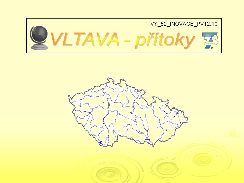 VLTAVA urči přítoky Vltavy a místa jejich soutoku E D C A B C A B