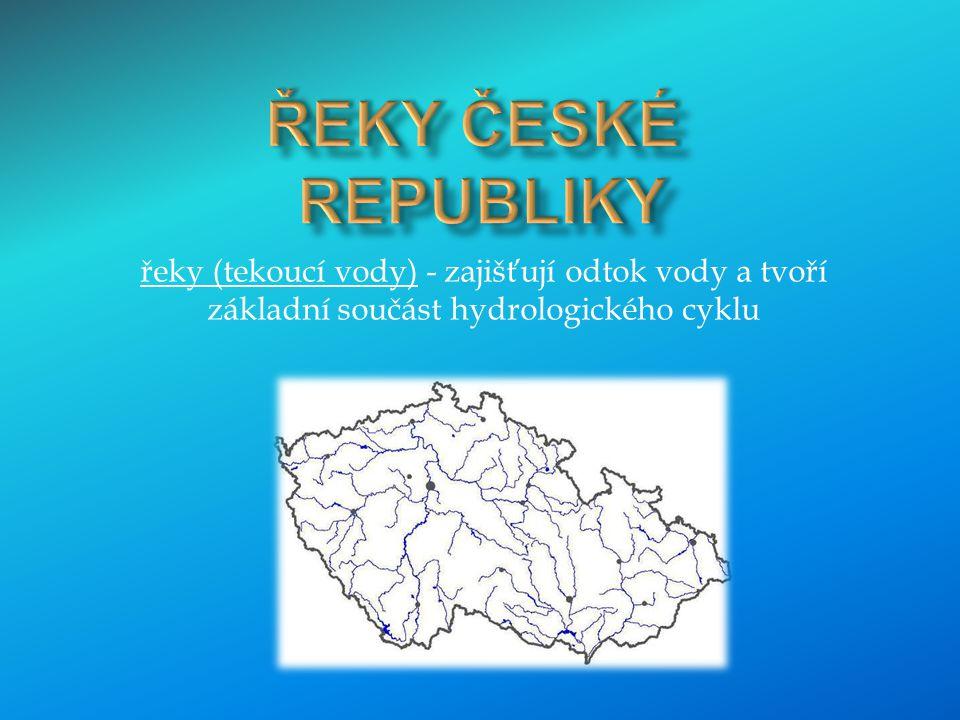 Rozvodí Severního, Baltského a Černého moře dělí území České republiky na tři hlavní povodí – povodí Labe, Odry a Moravy (Dunaje).