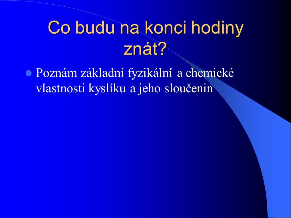 Opakování vědomostí Jaká oxidační čísla může mít vodík ve sloučeninách.