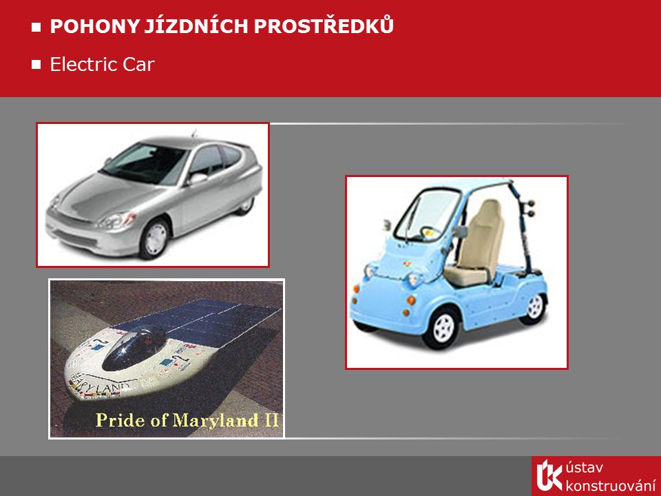 Electric Car POHONY JÍZDNÍCH PROSTŘEDKŮ