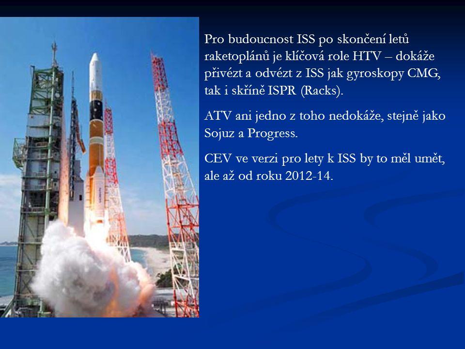Pro budoucnost ISS po skončení letů raketoplánů je klíčová role HTV – dokáže přivézt a odvézt z ISS jak gyroskopy CMG, tak i skříně ISPR (Racks).