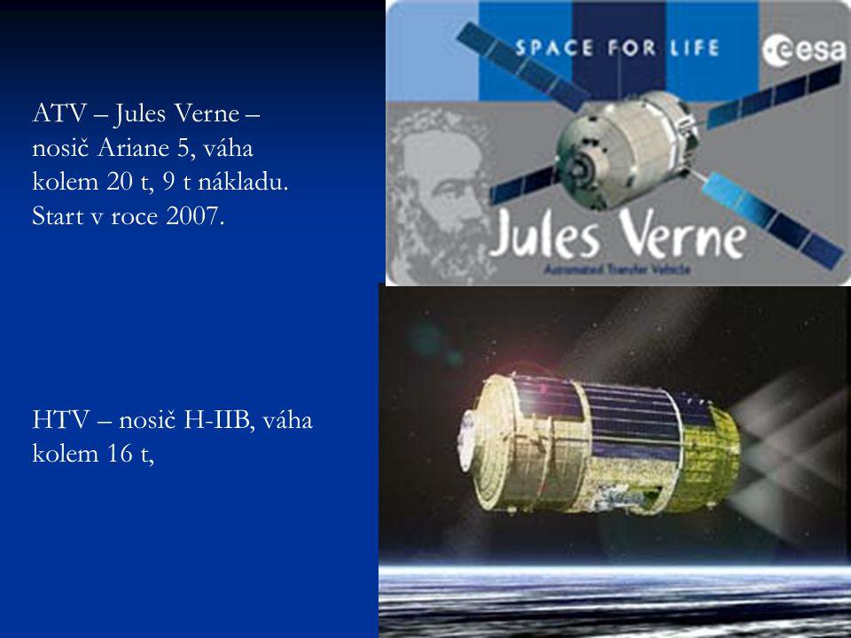 ATV – Jules Verne – nosič Ariane 5, váha kolem 20 t, 9 t nákladu.