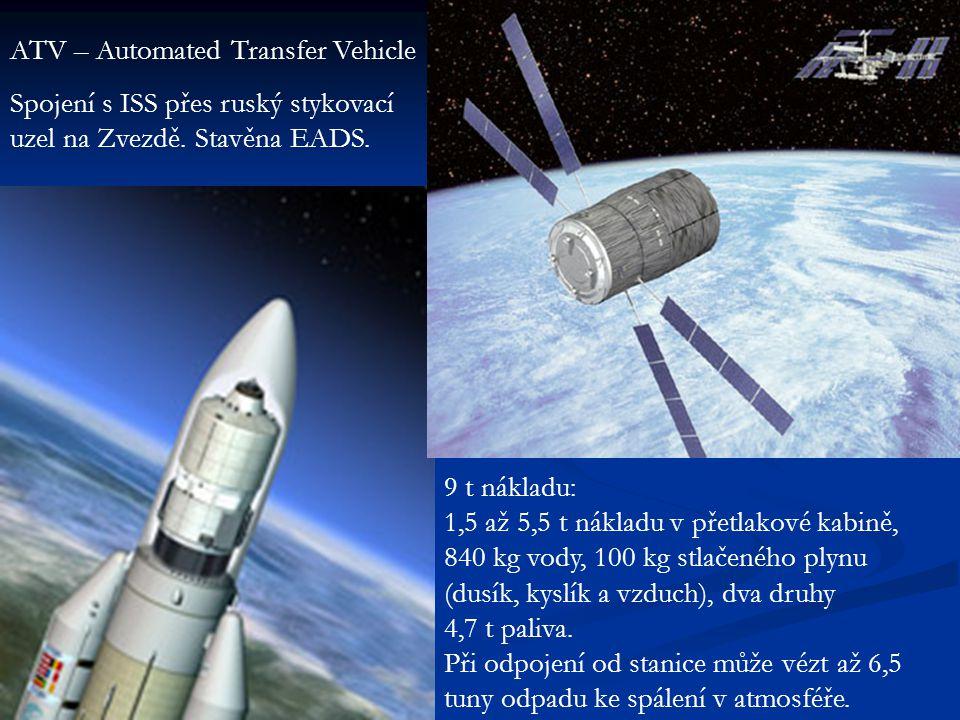 ATV – Automated Transfer Vehicle Spojení s ISS přes ruský stykovací uzel na Zvezdě.