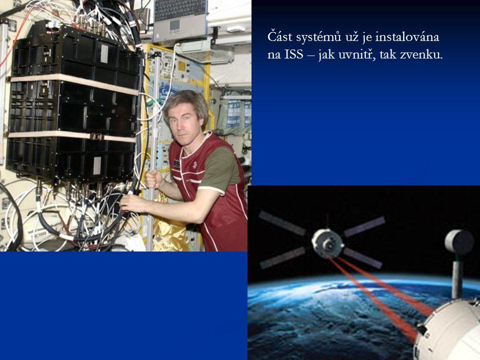 Část systémů už je instalována na ISS – jak uvnitř, tak zvenku.