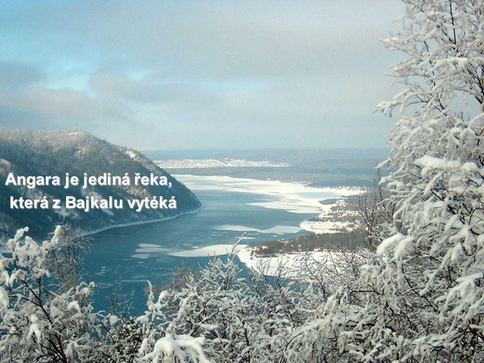 Angara je jediná řeka, která z Bajkalu vytéká která z Bajkalu vytéká