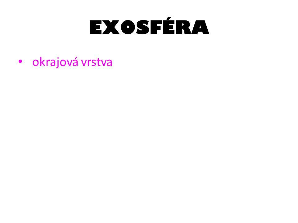 EXOSFÉRA okrajová vrstva