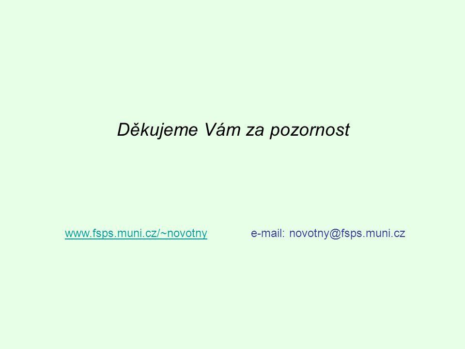 Děkujeme Vám za pozornost www.fsps.muni.cz/~novotnywww.fsps.muni.cz/~novotnye-mail: novotny@fsps.muni.cz