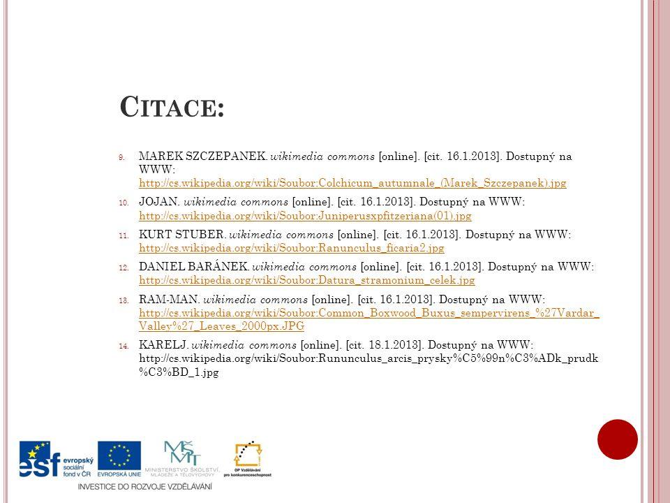 C ITACE : 9.MAREK SZCZEPANEK. wikimedia commons [online].