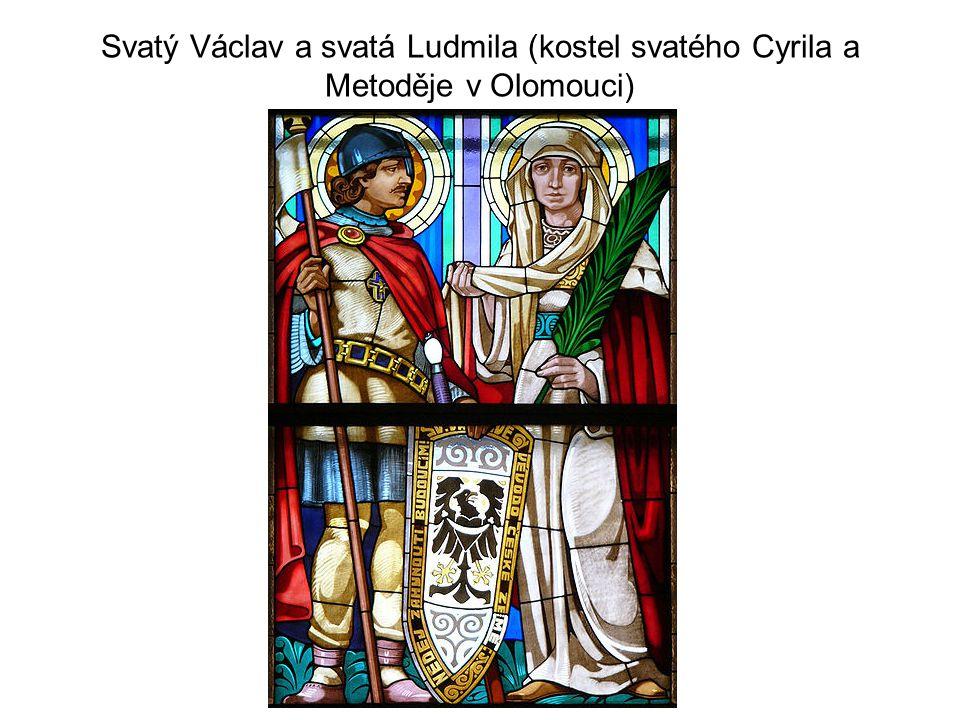 Svatý Václav a svatá Ludmila (kostel svatého Cyrila a Metoděje v Olomouci)