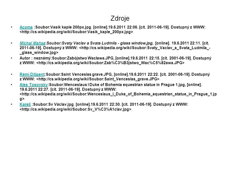 Zdroje Acoma :Soubor:Vasik kaple 200px.jpg, [online].19.6.2011 22:06.