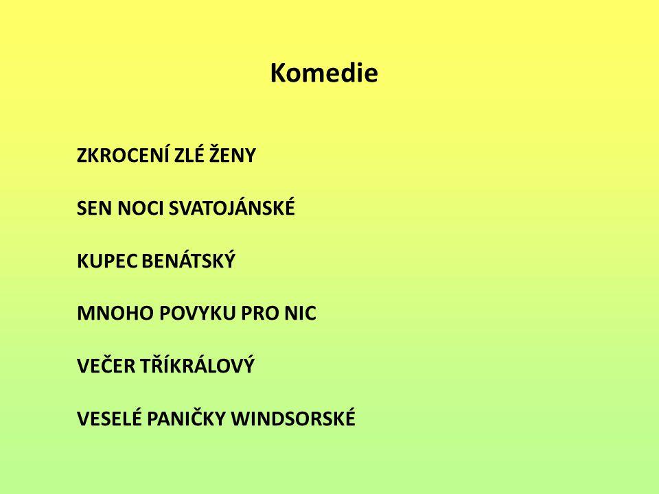 Historické hry JINDŘICH IV.JINDŘICH V. JINDŘICH VI.
